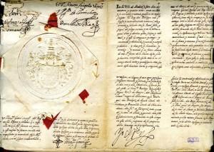 Testamento de Felipe II, con su firma, rúbrica y sello