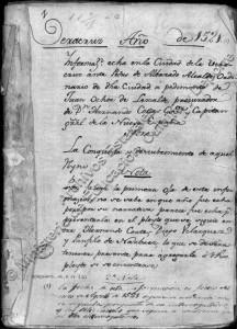 Hernán Cortés y la Conquista de México. 1521. Documento Archivo de Indias.