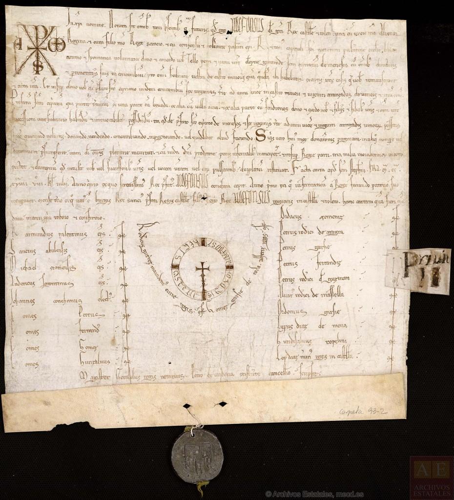 Colección de pergaminos del Archivo Real Chancillería Valladolid.
