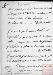 1815-1816. Expediente de pacificación y comercio libre de América.