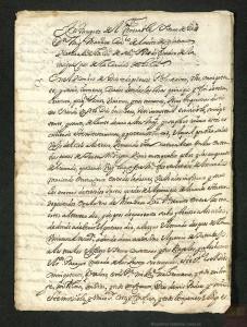 Copia del testamento de Miguel Mañara, caballero de la Orden de Calatrava, impulsor del Hospital de la Caridad de Sevilla