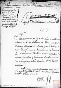 Rodrigo Ponce de León, IV duque de Arcos, jura defender el misterio de la Inmaculada Concepción de la Virgen