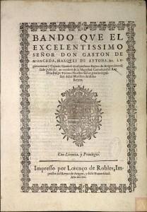 1610. Bando Expulsión de los moriscos.